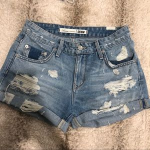 Lovers + Friends High-Rise Jean Shorts